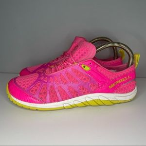 Merrell Womens Crush Glove J57320 Low Top Lace Up Pink Running Shoes Size US 7,5